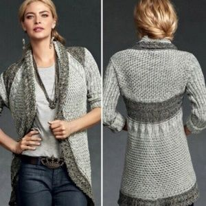 Cabi | Shadow Circle Cardigan Grey Size Medium